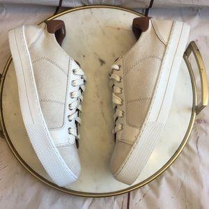 Michael kors sneakers canvas size 9 women beige
